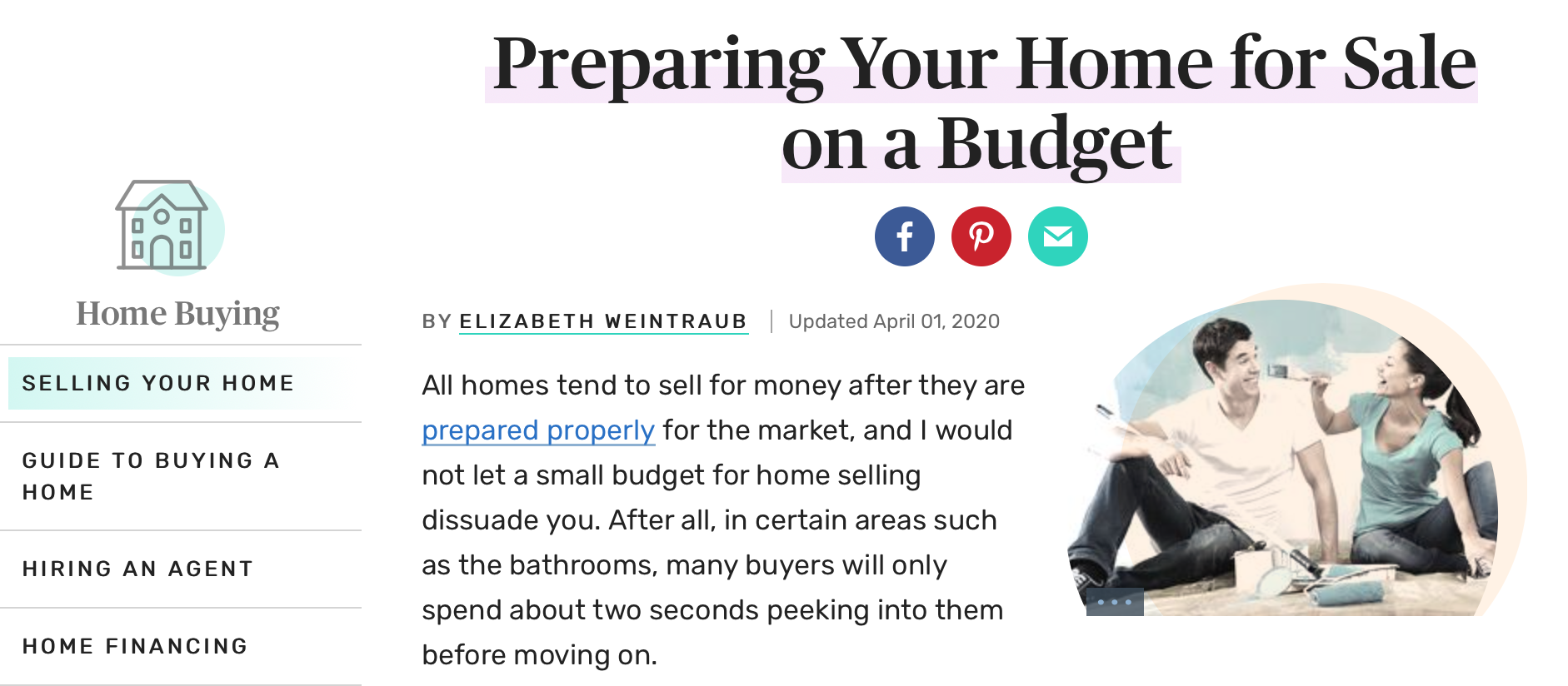 Preparing Your Home for Sale on a BUDGET